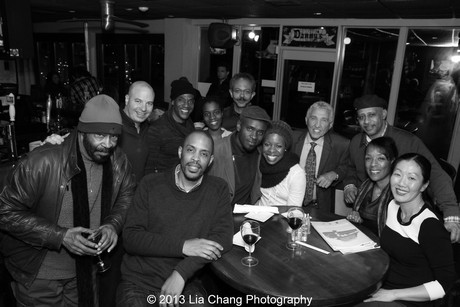 Two Trains Running cast, crew and friends at Danny's in Red Bank, NJ, after the March 2, 2013 performance. Photo by Lia Chang