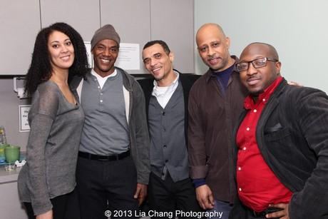 Jade King Carroll, John Earl Jelks, Charles Richard Barboza, Ruben Santiago-Hudson and Xavier Pierce. Photo by Lia Chang