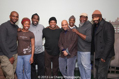 Owiso Odera, Roslyn Ruff, James A. Williams, Harvy Blanks, Ruben Santiago-Hudson, John Earl Jelks, Chuck Cooper and Anthony Chisholm. Photo by Lia Chang