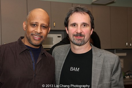 Ruben Santiago-Hudson and John Dias. Photo by Lia Chang
