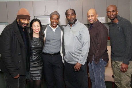 Anthony Chisholm, Lia Chang, John Earl Jelks, James A. Williams, Ruben Santiago-Hudson and Owiso Odera. Photo by Lia Chang