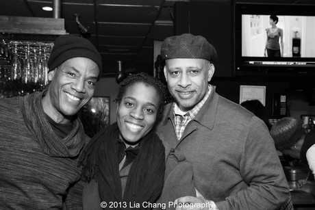 John Earl Jelks, assistant director Awoye Timpo and director Ruben Santiago-Hudson. Photo by Lia Chang