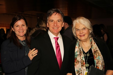Mare Winningham, James Houghton and Lois Smith at the opening night party of Old Hats, starring Bill Irwin, David Shiner and Nellie McKay, on March 4, 2013. Photo by Lia Chang
