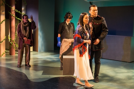 Jojo Gonzalez, Siho Ellsmore, Tina Chilip and Dave Shih in NAATCO's A Dream Play at Here. Photo by William P. Steele