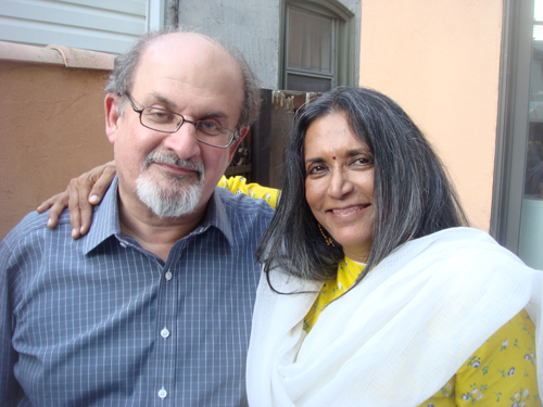 (L-R) Author and Screenwriter Salman Rushdie and Director Deepa Mehta