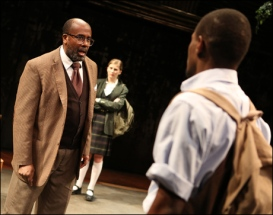 Signature's revival of Athol Fugard's My Children!, My Africa!, starring James A. Williams, Allison Gallerani and Stephen Tyrone Williams and directed by Ruben Santiago-Hudson, has been nominated for Outstanding Revival. Photo by Joan Marcus