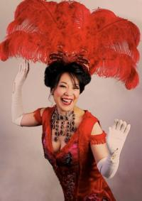 Christine Toy Johnson as Dolly Levi in NAAP's production of Hello Dolly! Photo by Bruce Alan Johnson