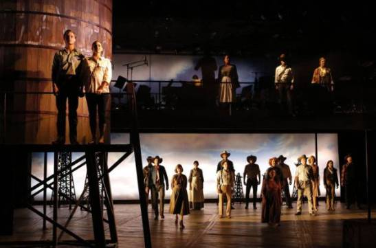 The cast of Giant at The Public. Photo by Joan Marcus