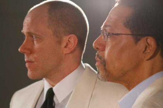 James Wallert and Peter Jay Fernandez in Epic Theatre Ensemble's Richard III: Born with Teeth at the Pershing Square Signature Center, April 16 - May 4, 2013.