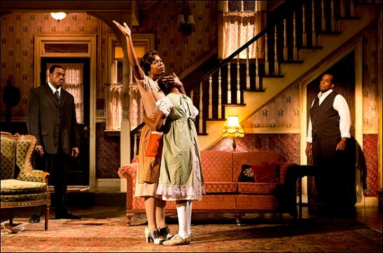 Eric Lenox Abrams, Roslyn Ruff, Alexis Holt and James A. Williams in Signature's revival of August Wilson's The Piano Lesson, directed by Ruben Santiago-Hudson. Photo by Joan Marcus