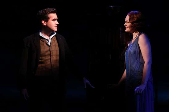 Brian d'Arcy James, as Bick Benedict, and Kate Baldwin, as his wife, Leslie, are at the center of 'Giant,' the story of a Texas ranching family. Photo by Joan Marcus