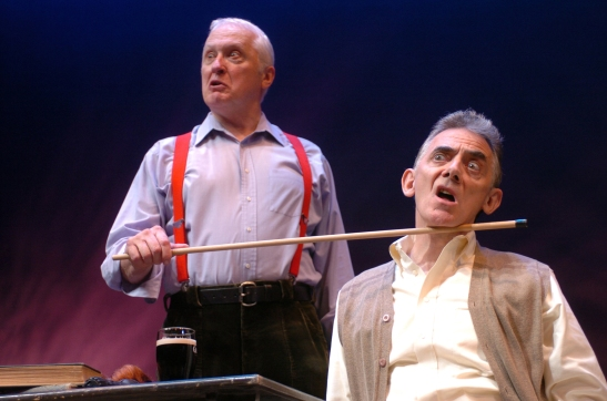 Howard Platt and Jarlath Conroy in A Couple of Blaguards. Photo by David Allen