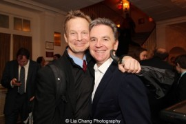 Bill Irwin and James Houghton at the 2013 Drama Desk Awards at Town Hall in New York on May 19, 2013. Photo by Lia Chang