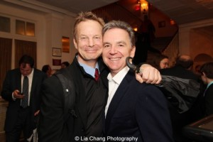 Old Hats' Bill Irwin and Signature Theatre's Jim Houghton. Photo by Lia Chang