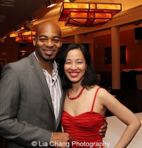 Brandon Victor Dixon and Lia Chang. Photo by Tim Patterson