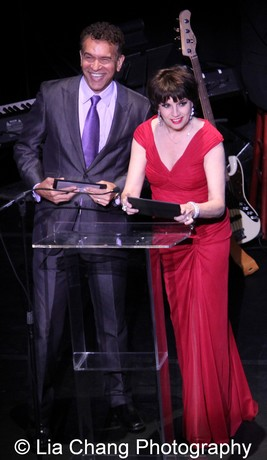 Presenters Brian Stokes Mitchell and Beth Leavel. Photo by Lia Chang