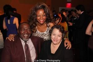 Chuck Cooper, Tonya Pinkins and Debra Brevoort. Photo by Lia Chang