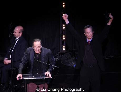 Old Hats' David Shiner and Bill Irwin win for Outstanding Revue. Photo by Lia Chang