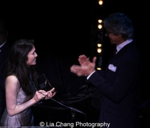 Diane Paulus and presenter Tommy Tune. Photo by Lia Chang