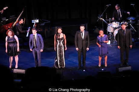 Working: A Musical's Donna Lynne Champlin, Jay Armstrong Johnson, Marie-France Arcilla, Colin Donnell, Kenita Miller and Nehal Joshi. Photo by Lia Chang