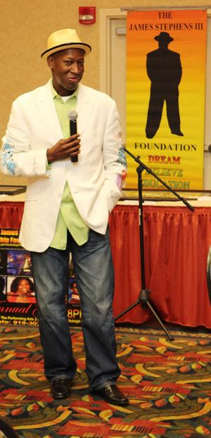 Comedian James Stephens III. Photo by Lia Chang