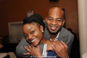 Kenita Miller and Brandon Victor Dixon. Photo by Lia Chang