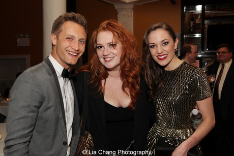 Nathan Johnson, Katie Thompson and Laura Osnes. Photo by Lia Chang