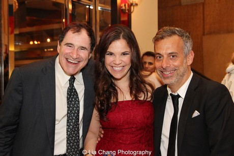 Richard Kind, Lindsay Mendez and Joe Mantello. Photo by Lia Chang