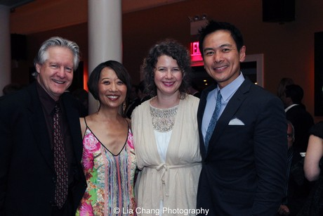 Tim Patterson and his wife Jeanne Sakata, Melissa and Joel de la Fuente. Photo by Lia Chang