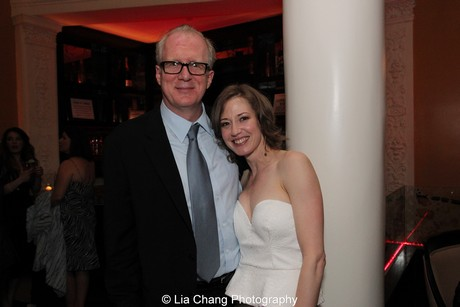 Who's Afraid of Virginia Woolf's Tracy Letts and Carrie Coons. Photo by Lia Chang
