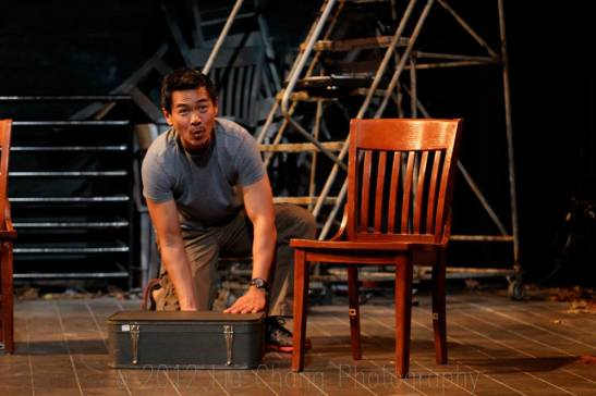 Joel de la Fuente as Gordon Hirabayashi in Jeanne Sakata's Hold These Truths. Photo by Lia Chang