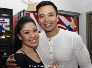 Ruthie Ann Miles and Jose Llana. Photo by Lia Chang
