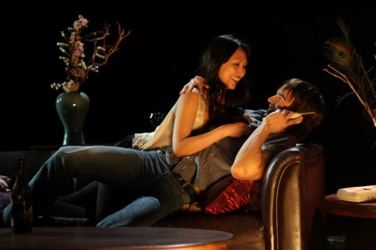 DHH's ex-girlfriend Margaret Fung (Linda Park) shares an intimate moment with new beau Marcus (Christopher Gorham). Photo credit: Ozum Bobaroglu