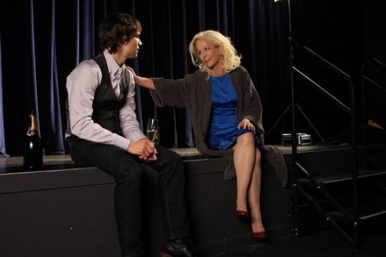 "Marcus (Christopher Gorham) confides in fellow ""Face Value"" actor Jane Krakowski (Tracy Winters). Photo credit: Ozum Bobaroglu"