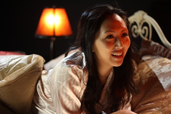 Linda Park as the Asian American civil rights lawyer. Photo credit: Ozum Bobaroglu
