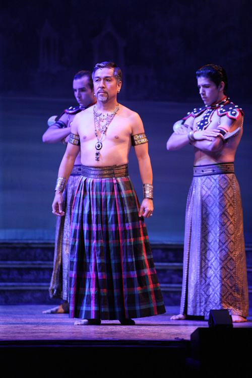Alan Ariano as The Kralahome.  Photo by Christopher Clark, Music Theatre of Wichita