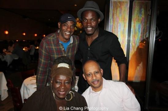 Ebony Jo-Ann, Ruben Santiago_Hudson, John Earl Jelks and Stephen Tyrone Williams. Photo by Lia Chang