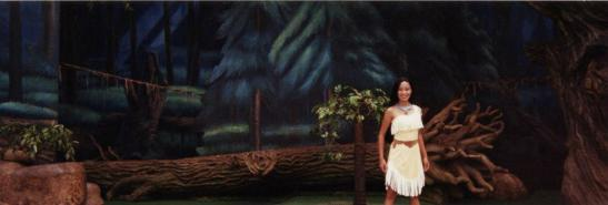 Jaygee Macapugay as Pocahontas at Disney's Animal Kingdom at Disney World.