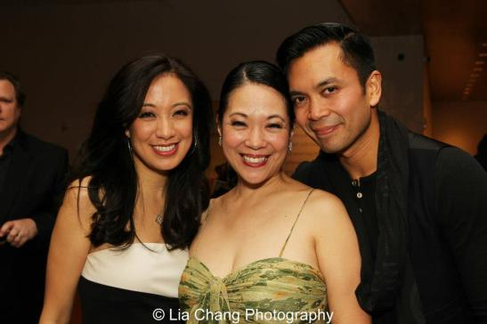 Jaygee Macapugay, Christine Toy Johnson and Jose Llana at the opening night part of NAAP's production of Hello Dolly!, directed by Lee Roy Reams, at the Irene Diamond Theatre at The Pershing Square Signature Center in New York on April 30, 2013. Photo by Lia Chang