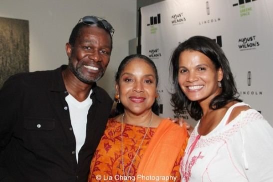 John Douglas Thompson, Phylicia Rashad and January LaVoy at the launch event for the August Wilson American Century Cycle Recording Series by www.thegreenespace.org at The Green Space in New York on June 15, 2013. Photo by Lia Chang