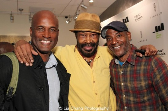 Kenny Leon, Anthony Chisholm and John Earl Jelks at the launch event for the August Wilson American Century Cycle Recording Series by www.thegreenespace.org at The Green Space in New York on June 15, 2013. Photo by Lia Chang.