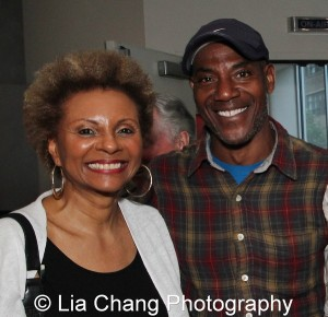Leslie Uggams and John Earl Jelks at the launch event for the August Wilson American Century Cycle Recording Series by www.thegreenespace.org at The Green Space in New York on June 15, 2013. Photo by Lia Chang