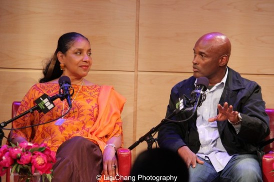 Phylicia Rashad and Kenny Leon at the launch event for the August Wilson American Century Cycle Recording Series by www.thegreenespace.org at The Green Space in New York on June 15, 2013. Photo by Lia Chang