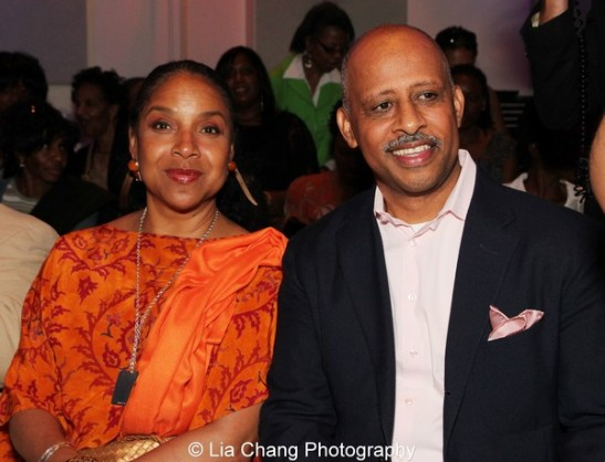 Phylicia Rashad and Ruben Santiago-Hudson at the launch event for the August Wilson American Century Cycle Recording Series by www.thegreenespace.org at The Green Space in New York on June 15, 2013. Photo by Lia Chang