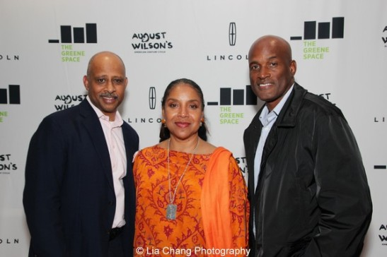 Ruben Santiago-Hudson, Phylicia Rashad and Kenny Leon at the launch event for the August Wilson American Century Cycle Recording Series by www.thegreenespace.org at The Green Space in New York on June 15, 2013. Photo by Lia Chang