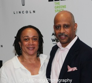 S. Epatha Merkerson and Ruben Santiago-Hudson at the launch event for the August Wilson American Century Cycle Recording Series by www.thegreenespace.org at The Green Space in New York on June 15, 2013.  Photo by Lia Chang