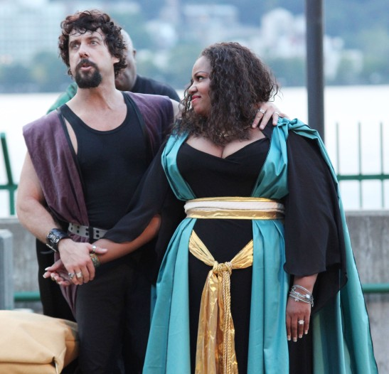 Christopher Sutton as Antony and Debra Ann Byrd as Cleopatra. Photo by Lia Chang