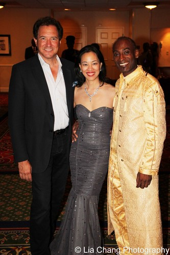 Motown producer Kevin McCullum, Lia Chang and Patrice Andrew Davidson.
