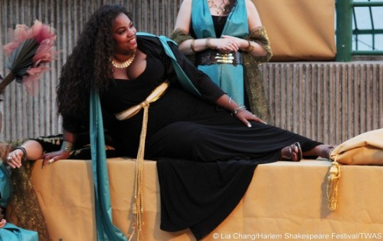 Debra Ann Byrd as Cleopatra. Photo by Lia Chang