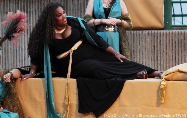 Debra Ann Byrd as Cleopatra. Photo by Lia Chang